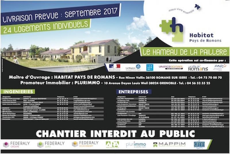 """Federaly   Réalisation de 24 logements à ROMANS """"Le Hameau de la Paillère"""""""