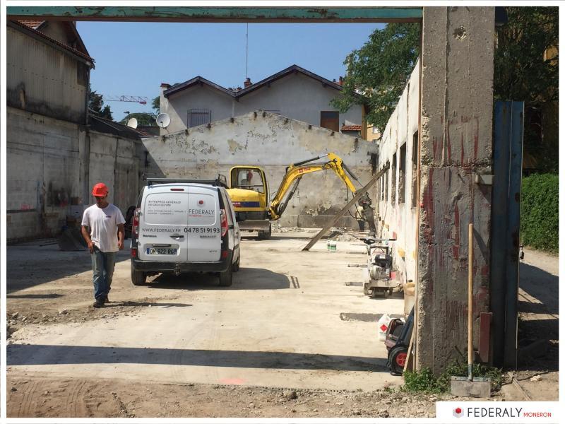 Federaly | En cours : Chantier de 4 maisons de ville sur le site d'une ancienne usine