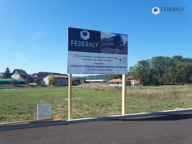 "Federaly | Nouveau chantier : ""EC International"" à Rumilly (74)"